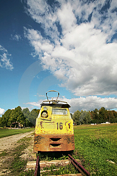 Old Train Stock Image - Image: 8528381