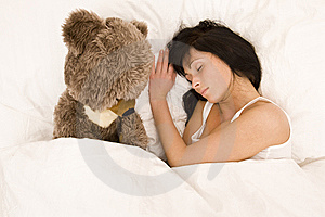 Sleeping Girl Royalty Free Stock Images - Image: 8528499