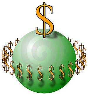 Gebied Met Dollartekens Royalty-vrije Stock Afbeelding - Afbeelding: 8528576