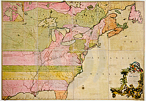 Antique Map Of North America Royalty Free Stock Photography - Image: 8528767