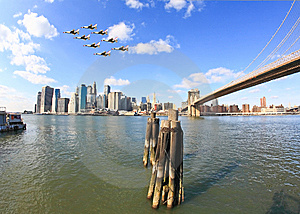 The Downtown Manhattan Skyline Stock Image - Image: 8528951