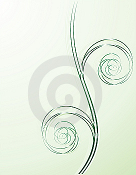Green Spiral Background Royalty Free Stock Photo - Image: 8529045