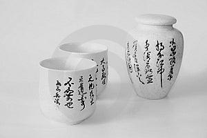 Black And White Crockery Stock Photo - Image: 8529200