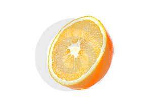 Cut Orange Royalty Free Stock Images - Image: 8529559