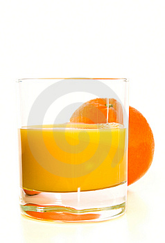 Glass With Orange Stock Photos - Image: 8529663