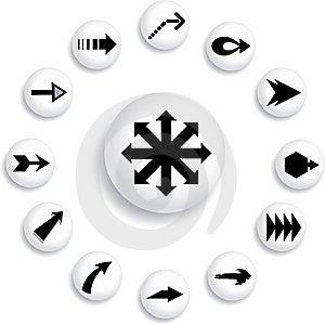 Set Buttons - 99_B. Arrows Stock Photo - Image: 8529770