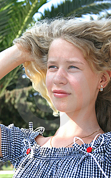 Pretty Blond Freckled Girl Royalty Free Stock Photo - Image: 8530745
