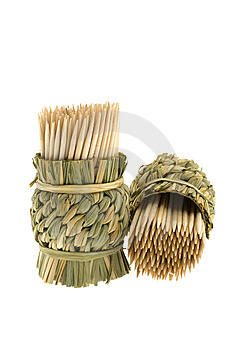 Bamboo Toothpicks Stock Photo - Image: 8531390