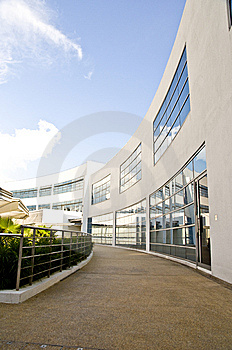 Walkway Along Offices Royalty Free Stock Photo - Image: 8532615