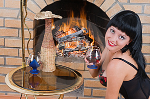 Smile Of The Brunette. Stock Photo - Image: 8532640