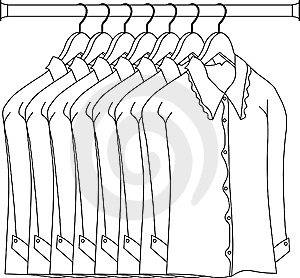 Dress In Rod Hanger Royalty Free Stock Photo - Image: 8532905