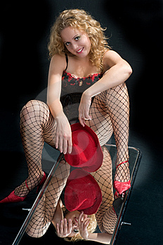 The Girl Sexual In Cowards. Stock Photo - Image: 8533040