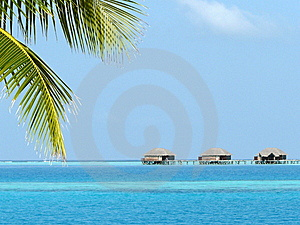 Foreshortening At The Maldives Royalty Free Stock Photos - Image: 8534288