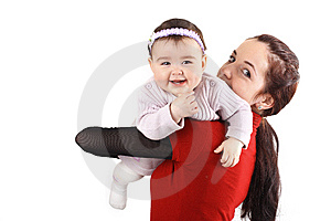 Mother And Her Little Daughter On H Stock Photos - Image: 8534753