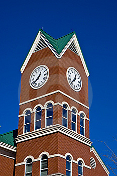 Clock Tower On Blue Stock Photos - Image: 8534843