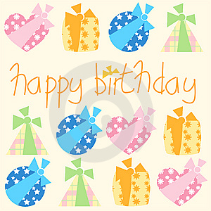 Happy Birthday Gifts Royalty Free Stock Photo - Image: 8534855