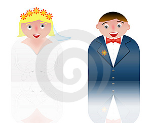 People Icons Married Couple Stock Images - Image: 8535224