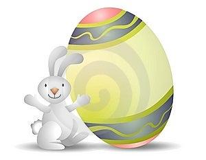Pâques Bunny Easter Egg Photographie stock