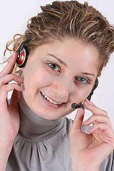 Customer Service Girl Royalty Free Stock Photography - Image: 8535387