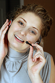 Customer Service Girl Royalty Free Stock Photography - Image: 8535397