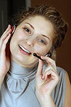 Customer Service Girl Royalty Free Stock Photography - Image: 8535397