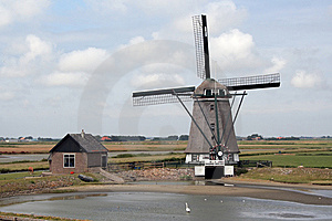 Landscape With Windmill Royalty Free Stock Photography - Image: 8535457