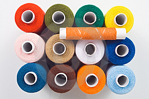 Sewing Spools Royalty Free Stock Image - Image: 8535606