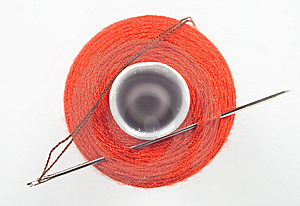 Sewing Spool With A Needle Stock Photos - Image: 8535613