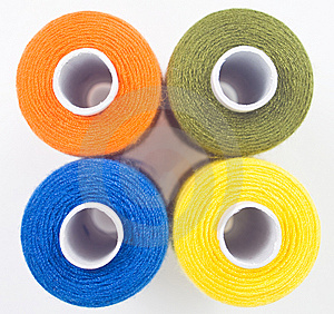 Four Sewing Spools Royalty Free Stock Image - Image: 8535676