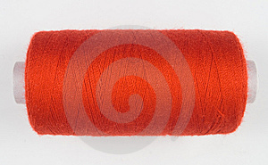 Red Sewing Spool Royalty Free Stock Images - Image: 8535759