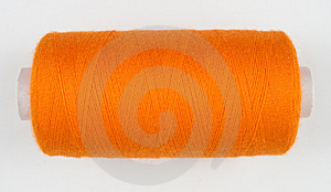 Orange Sewing Spool Stock Images - Image: 8535764