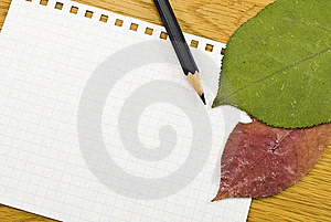 Spiral Notepad With Black Pencil Stock Images - Image: 8535844