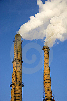Smoke From A Pipe. Stock Photography - Image: 8536312