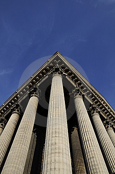 Great Building With Pillar Royalty Free Stock Image - Image: 8536316