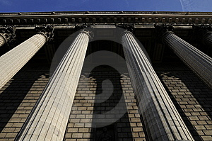 Great Building With Pillar Stock Image - Image: 8536401