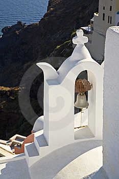 A Greek Church Bell, Santorini, Greece Royalty Free Stock Images - Image: 8536449