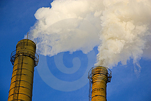 Smoke From A Pipe. Royalty Free Stock Photography - Image: 8536467