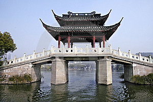 The Bridge With Summerhouse Stock Images - Image: 8536594