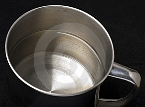Half Mug Of Water Royalty Free Stock Photos - Image: 8536628