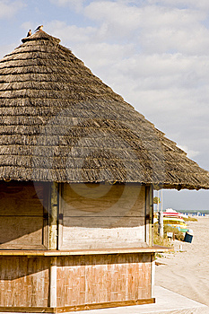 Beachside Straw Hut Closed Stock Images - Image: 8536724