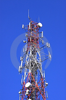 COMMUNICATION TOWER Royalty Free Stock Photos - Image: 8537138