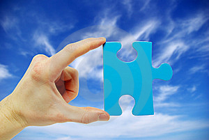 Puzzle In Hand Stock Photos - Image: 8537153