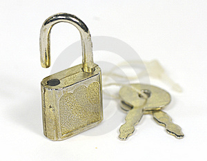 Tiny Lock With Key Royalty Free Stock Photo - Image: 8538565