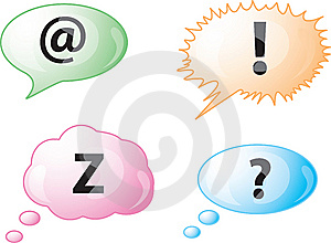 Speech Bubble Icons Stock Photography - Image: 8538782