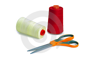 Spools And Scissors Stock Image - Image: 8539291