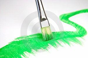 Paintbrush And Painted Brush Stroke Royalty Free Stock Photos - Image: 8539338