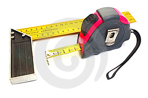 Roulette For Measuring Of Length Stock Image - Image: 8539551