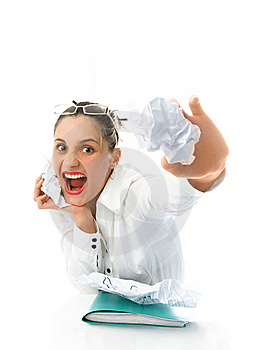 Angry Businesswoman Royalty Free Stock Photos - Image: 8540138