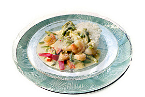 Vegetarian Green Curry Dinner Royalty Free Stock Photography - Image: 8540317