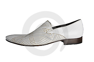 Man White Shoe Royalty Free Stock Photo - Image: 8540355